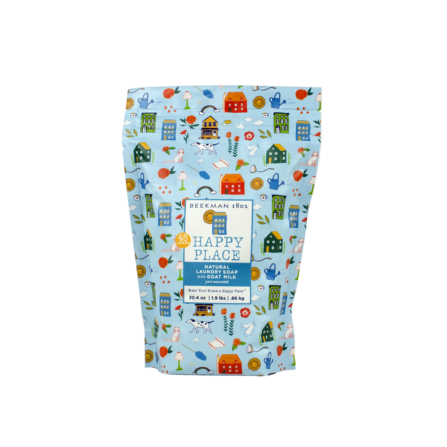 Happy Place Pure *Unscented* Goat Milk Laundry Soap - Resealable Bags