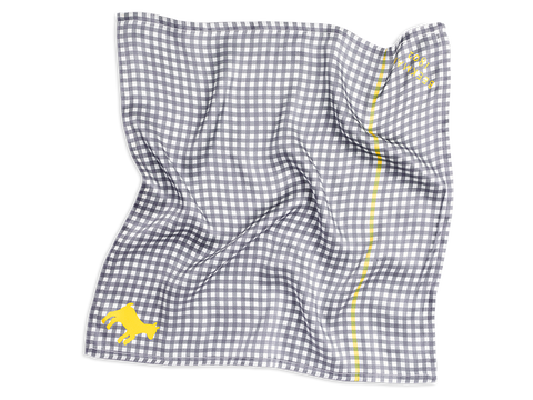 Silk Charmeuse Scarf Bandana - Gingham Collection