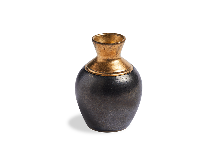 Black Ink Pot Bud Vase - Beekman 1802