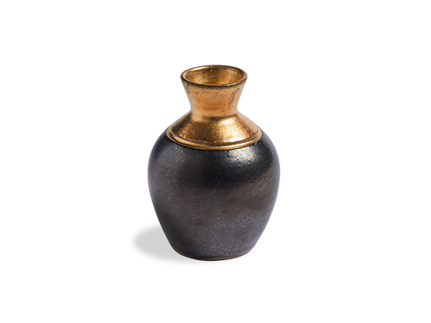 Black Ink Pot Bud Vase