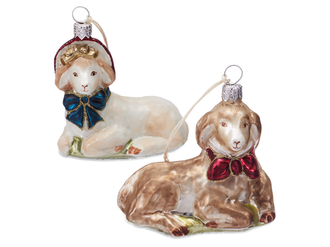 Goat Ornament Duo