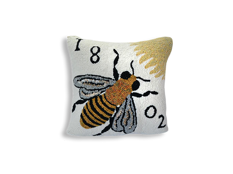 Bee Hand-Hooked Pillow - Beekman 1802