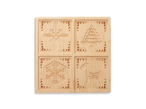 Wooden Cookie Mold Press