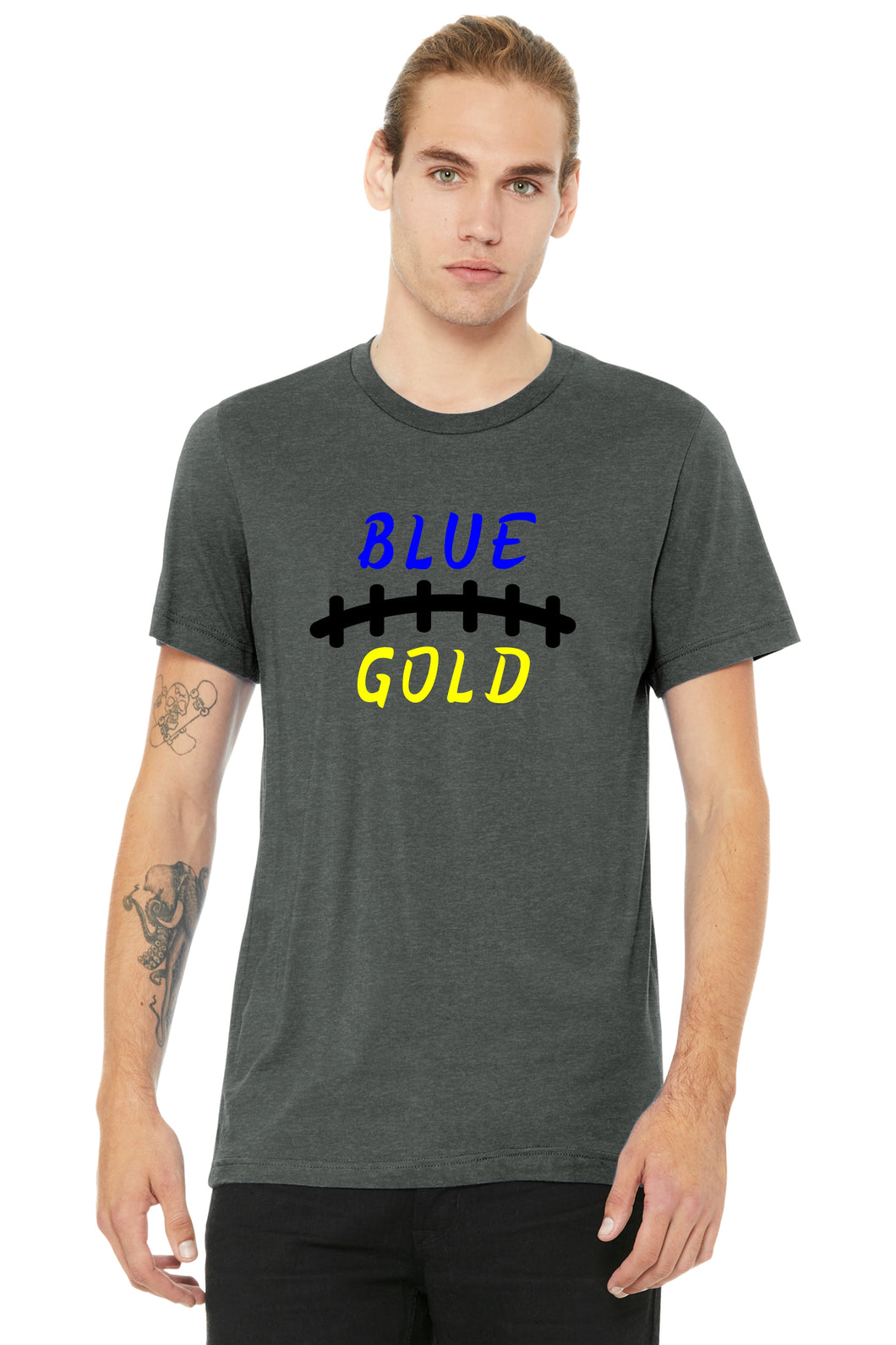 Football Blue and Gold Laces Unisex