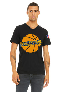 Basketball Warriors Ball Vneck Unisex