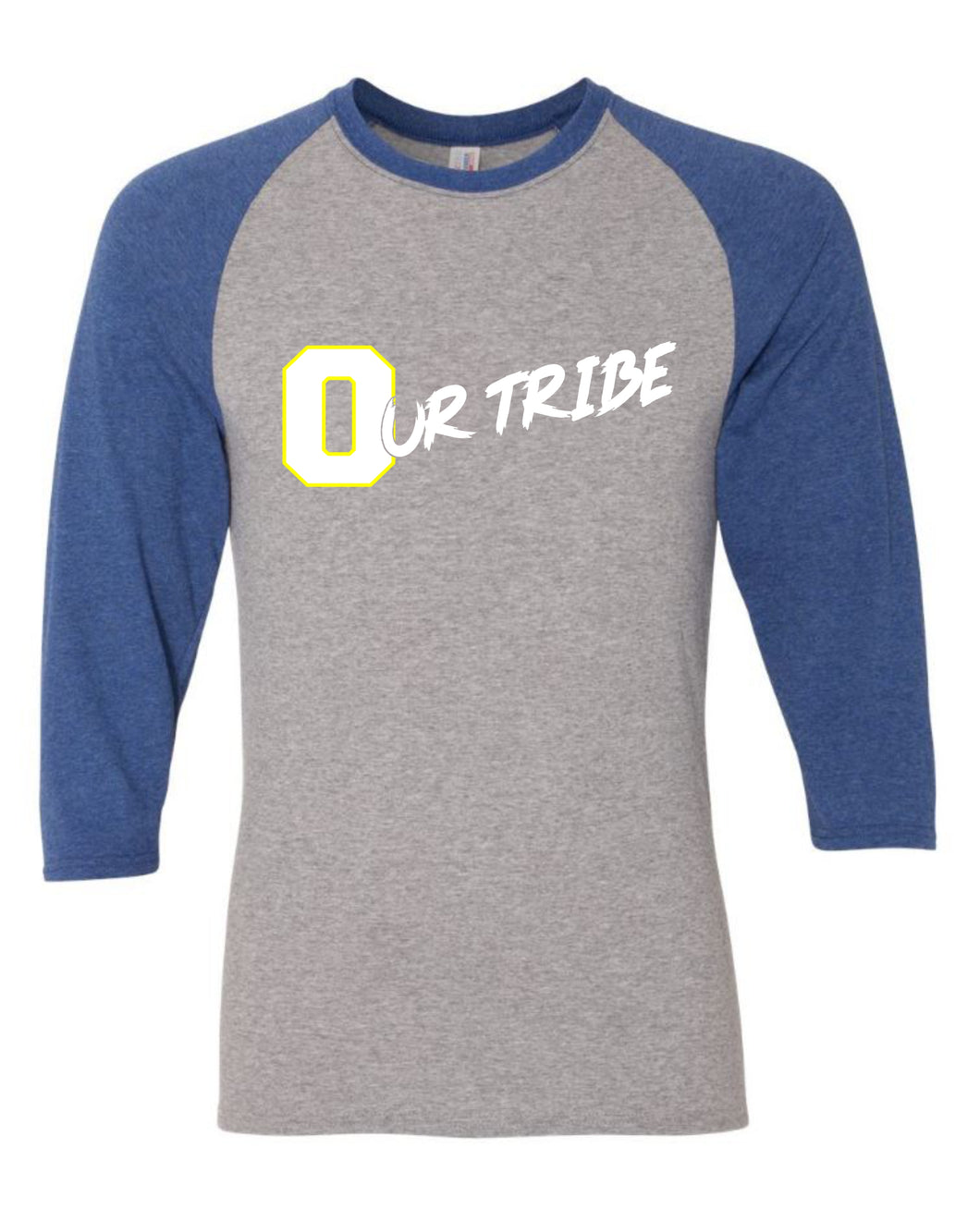 Our Tribe Gray and White Raglan Unisex