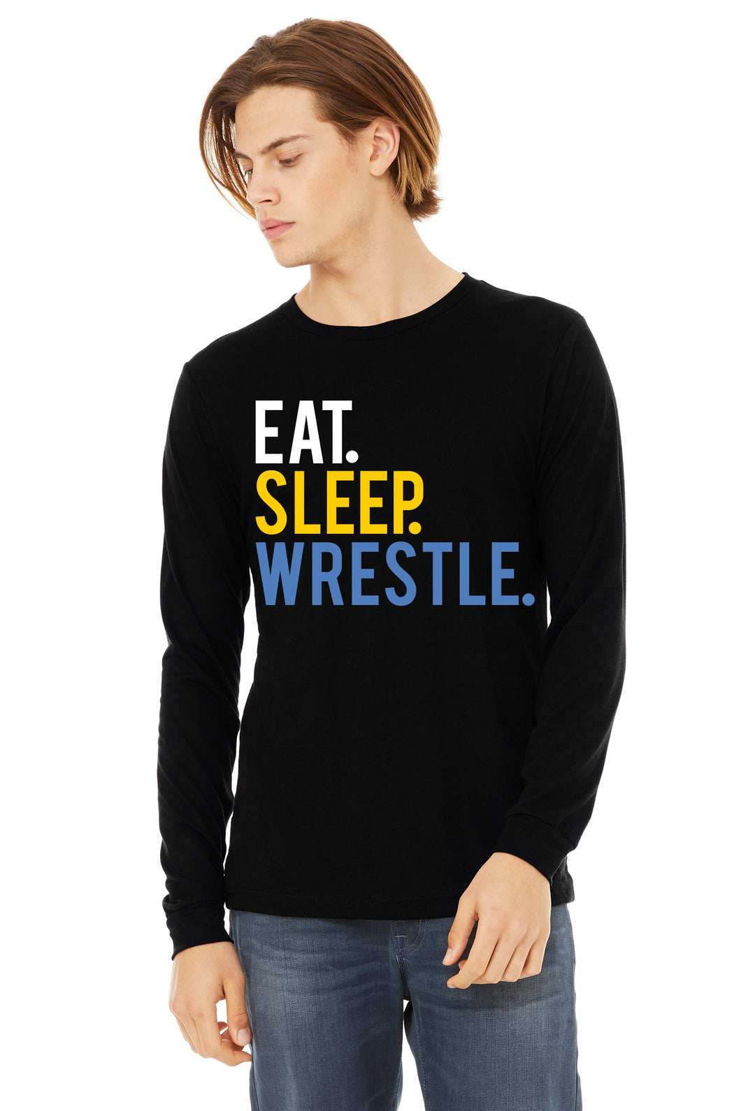 Eat Sleep Wrestle Long Sleeved Unisex