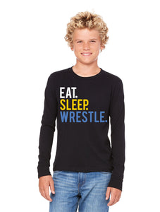 Eat Sleep Wrestle Long Sleeved  Youth