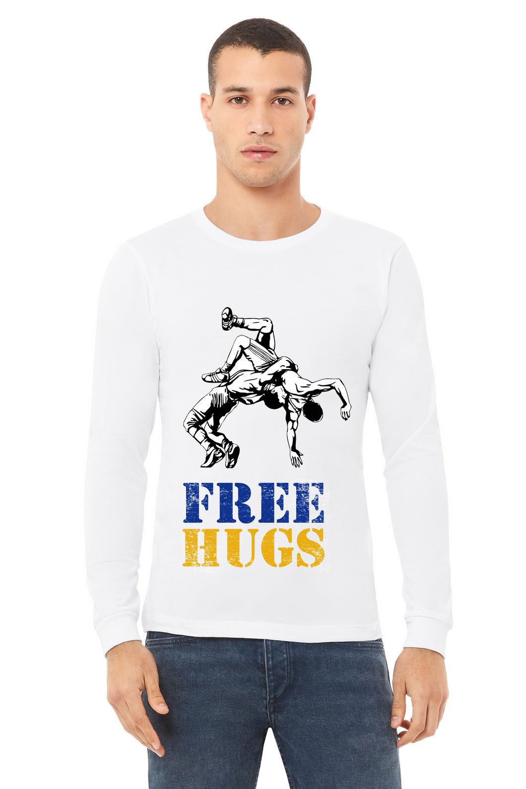 Free Hugs Wrestle Long Sleeved Unisex