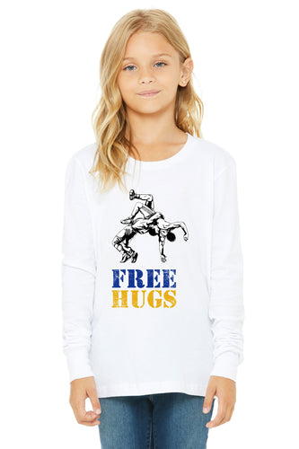 Free Hugs Wrestle Long Sleeved Youth