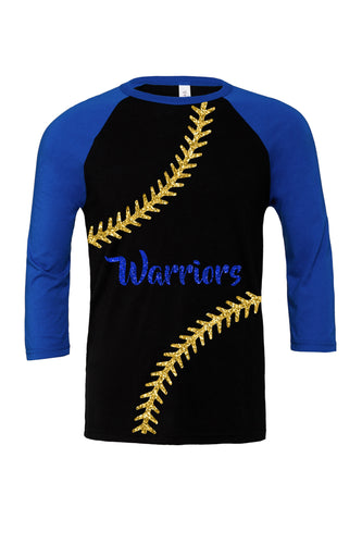 Baseball/Softball Glitter Warriors Raglan Unisex
