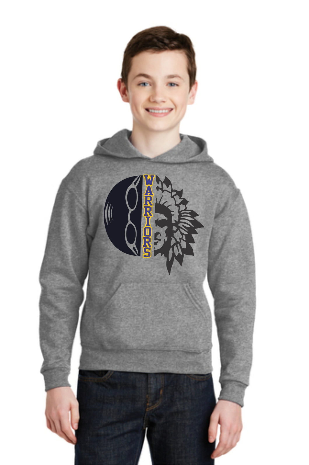 Swimming Warrior Head Hoodie Youth