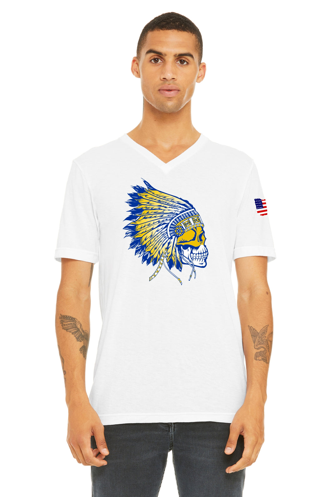 Warrior Head V Neck