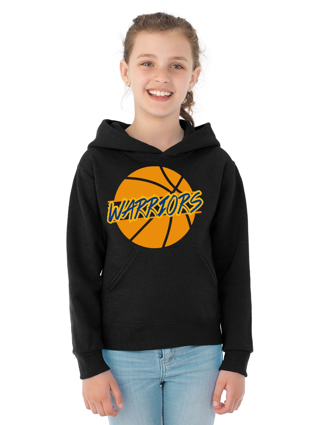 Basketball Warriors Ball Hoodie Youth