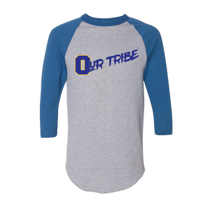 Our Tribe Gray and Blue Raglan Unisex