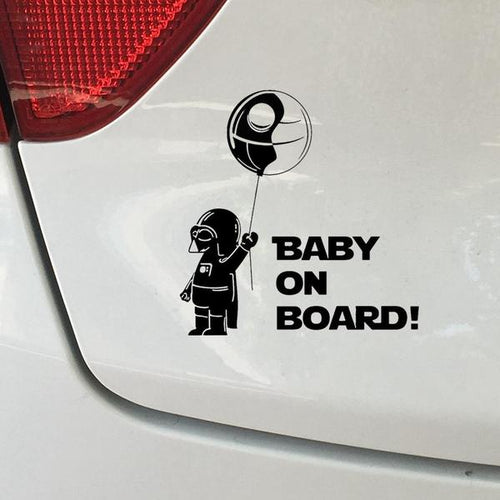 Darth Vader Baby Sticker