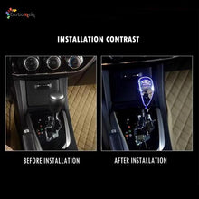 Load image into Gallery viewer, LED Touch Activated Shift Knob ( Custom Logo with 7 Colors)