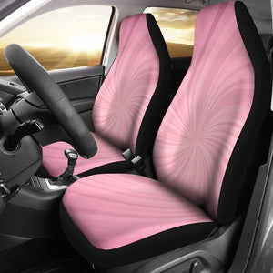 Pink Spiral Seat Cover
