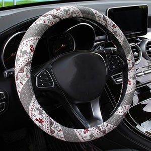Christmas Car Steering Wheel Cover Flexible and suitable for all sizes