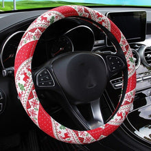 Load image into Gallery viewer, Christmas Car Steering Wheel Cover Flexible and suitable for all sizes