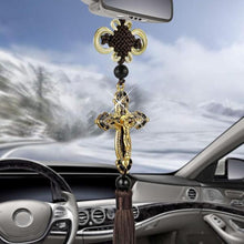 Load image into Gallery viewer, Golden Cross Rear View Mirror Hanging Accessory