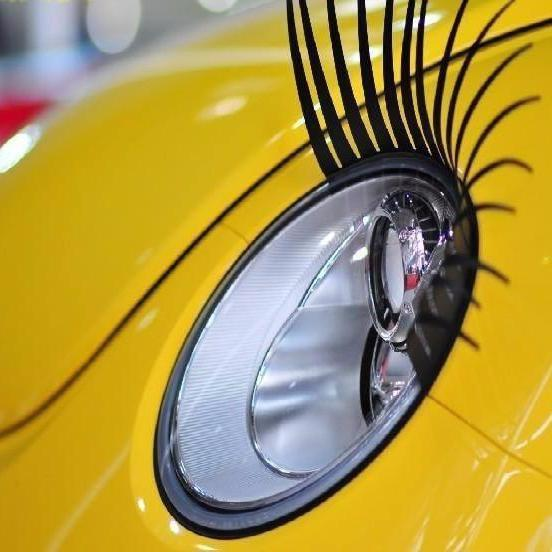 Eyelashes Headlight Decoration