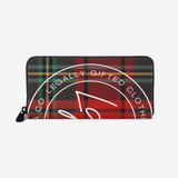 Plaid Leather Wallet