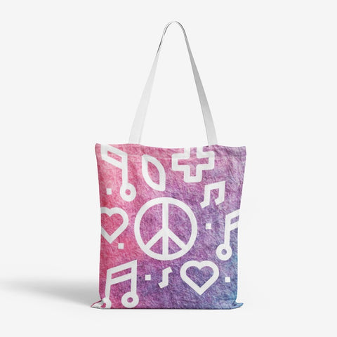 Peace  Canvas Tote