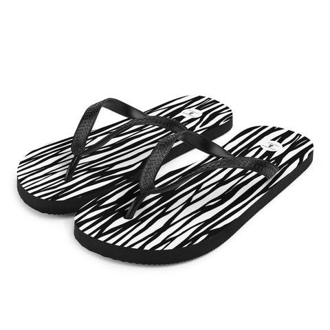 Zebra Fashion Flip-Flops