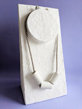 Load image into Gallery viewer, Concrete Terrazzo + Linen Necklace