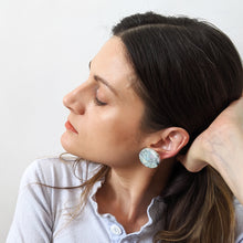 Load image into Gallery viewer, Seafoam Full Circle Earrings