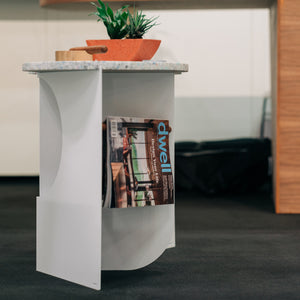Bent Side Table (White)