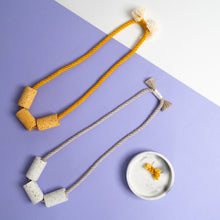 Load image into Gallery viewer, Terrazzo + Cotton Necklaces