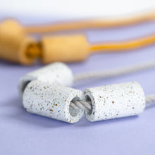 Load image into Gallery viewer, Terrazzo + Linen Necklace