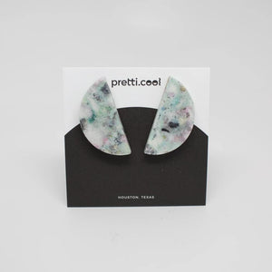 Seafoam Half Circle Earrings