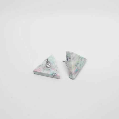 Seafoam Triangle Earrings