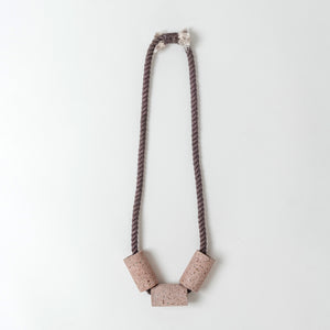 Concrete Terrazzo + Cotton Necklaces