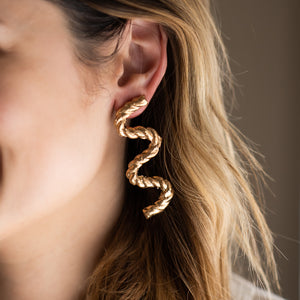 Gold Twizzle Earrings