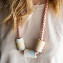 Load image into Gallery viewer, Concrete + Cotton Necklaces