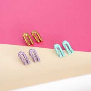 Bent Twizzle Earrings
