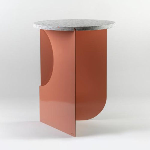 Bent Side Table (Coral)