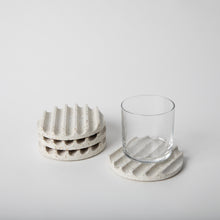 Load image into Gallery viewer, White Terrazzo Coaster Set