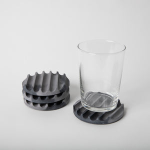Black & Grey Coaster Set