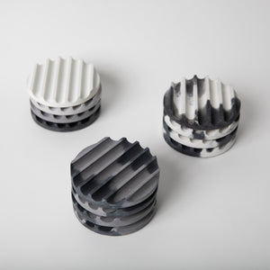 Grey Scale Coaster Set