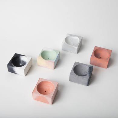 Incense Holders (Square) - Marbled