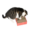 "Pawnie ""Hidden Treasure"" Cat Scratcher and Resting Lounge Pad with Toy Ball Rolling in Holes"