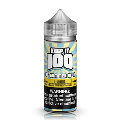 Keep It 100 - OG Summer Blue (Blue Slushie Lemonade) E-Liquid