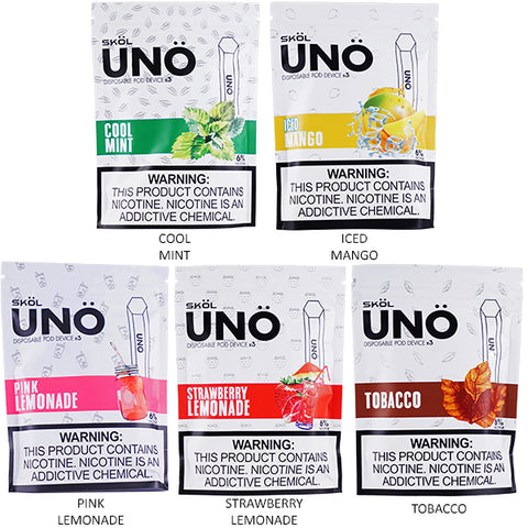 SKOL - UNO Disposable Pod Device | 3-Pack