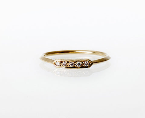 Mini Bar Ring Gold