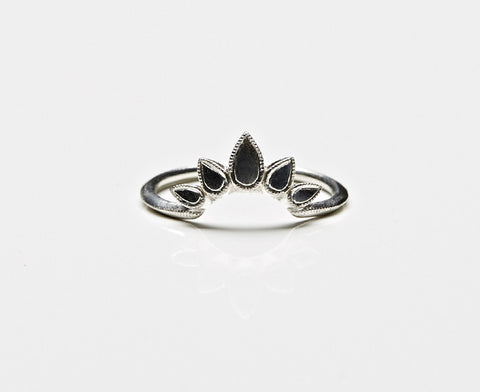 Sunburst Ring Oval